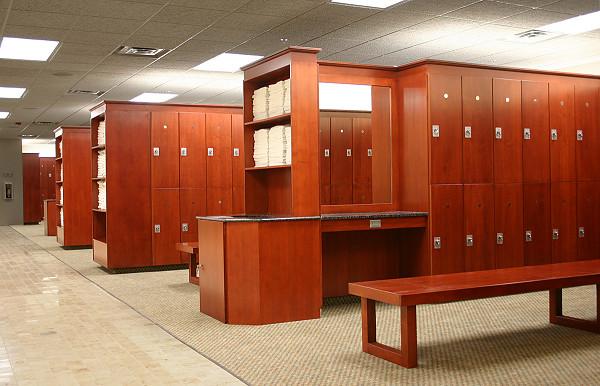 Wood gym lockers custom locker rooms athletic