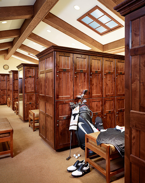Country club golf lockers upscale custom wood