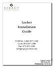 Legacy Lockers Installation Specifications