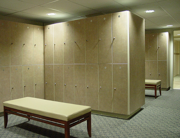 Custom wood lockers for hotel spas resorts legacy