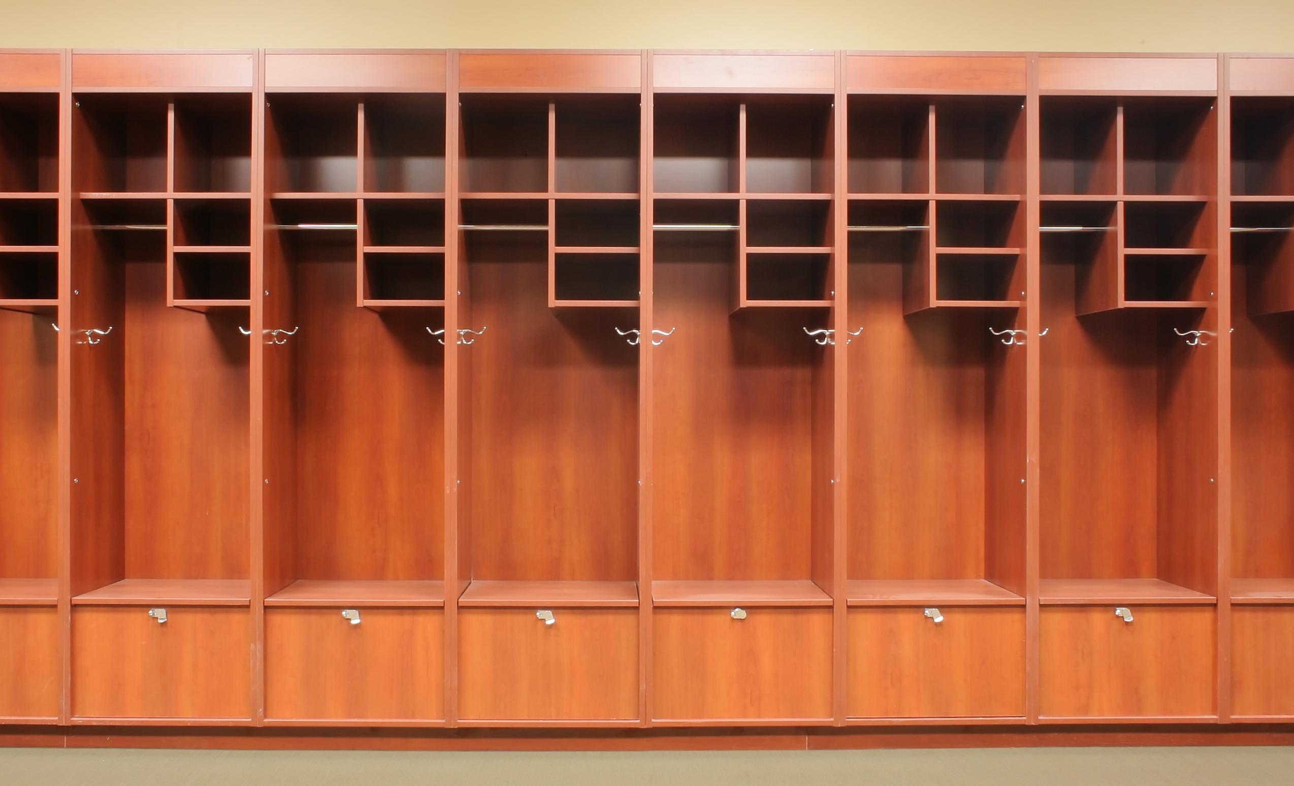 Lockers in Schools College vs High School Locker Room