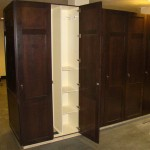 custom wood lockers